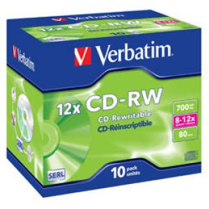 CD-RW 80min/700Mb 8-12x jewel Verbatim